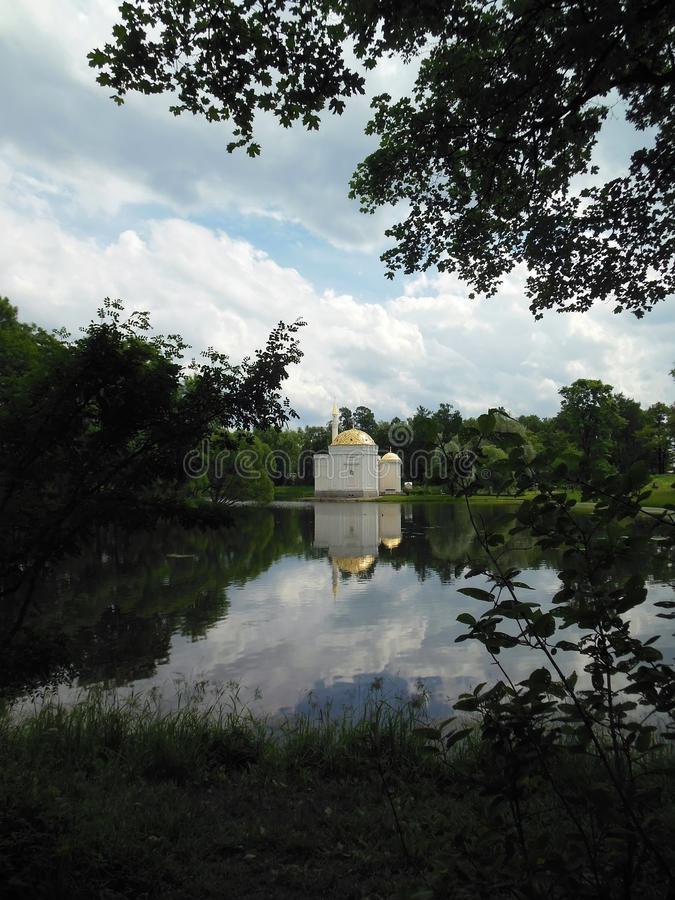 St Petersburg, Tsarskoye Selo, Catherine Park fotografía de archivo libre de regalías