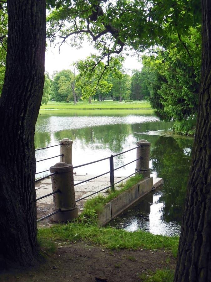 St Petersburg, Tsarskoye Selo, Catherine Park foto de archivo