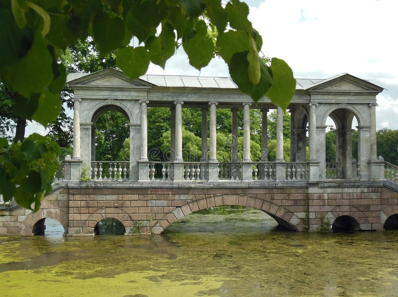 St Petersburg, Tsarskoye Selo, Catherine Park fotos de archivo