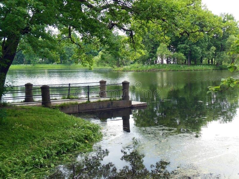 St Petersburg, Tsarskoye Selo, Catherine Park imagen de archivo