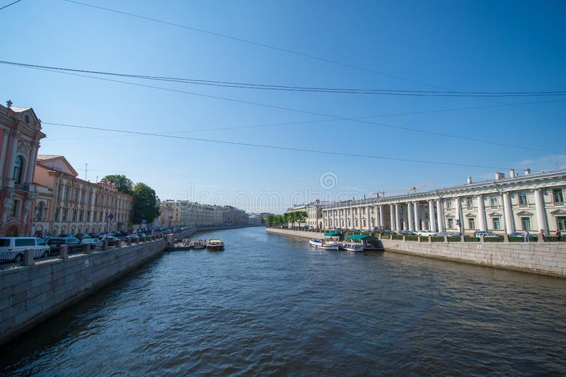 St Petersburg, vue de canal photo stock