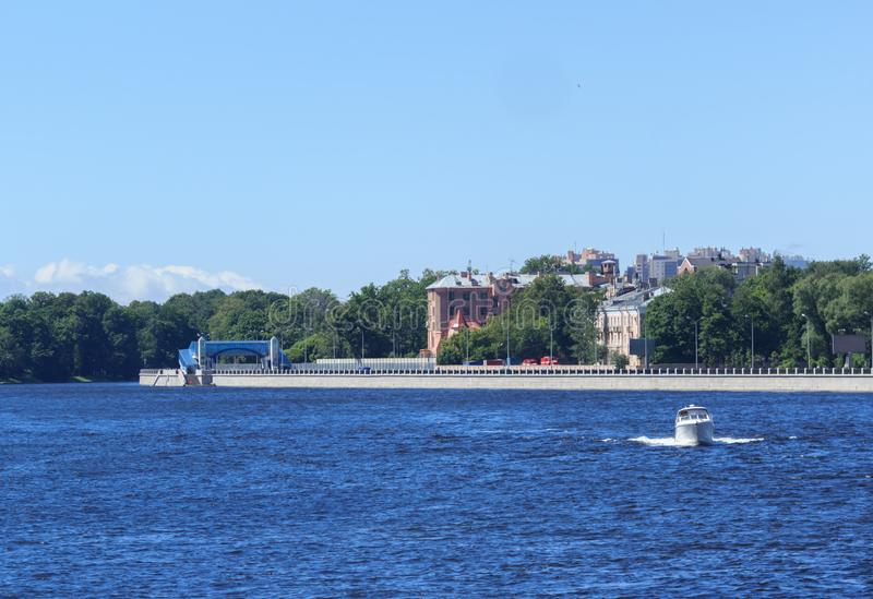 St. Petersburg waterfront royalty free stock photos