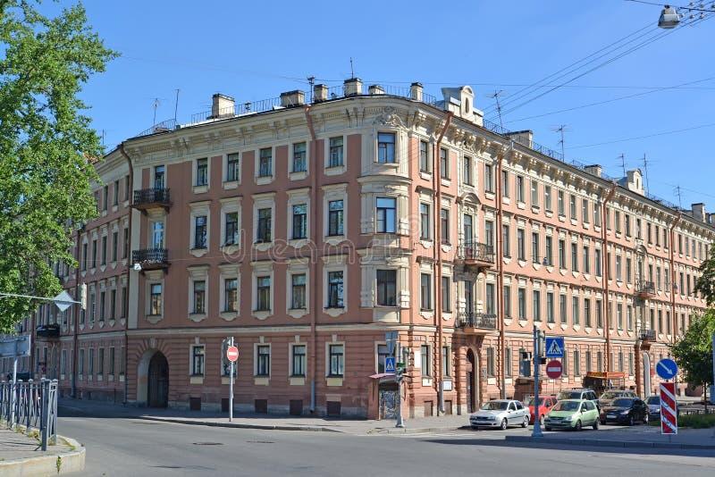 ST Petersburgo, Rusia Edificio del apartamento del museo del poeta Alexander Blok foto de archivo libre de regalías