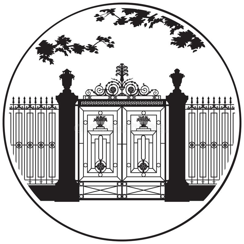 St- Petersburgsommer-Gartenvektorikone lizenzfreie stockbilder