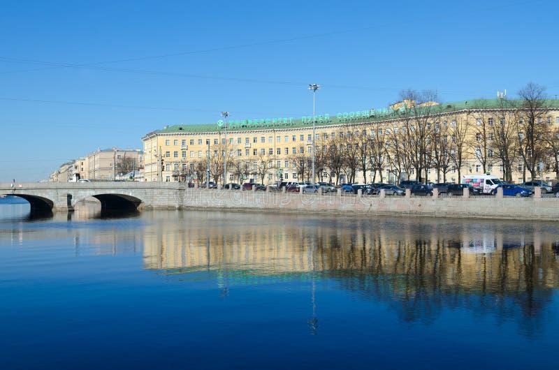 St- Petersburgstaatliche universität von Weisen von Kommunikationen, St Petersburg, Russland lizenzfreies stockbild