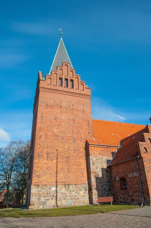 St peterskerk in stad van Slagelse in Denemarken royalty-vrije stock fotografie