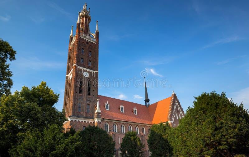 St Petri Church in Woerlitz, Dessau, Duitsland stock afbeeldingen