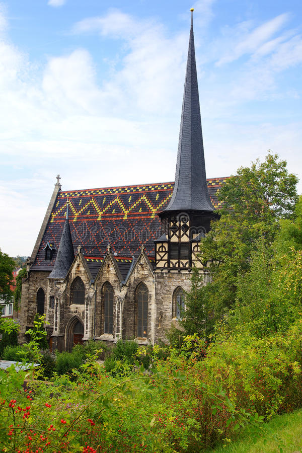 Download St. Petrikirche In Muehlhausen. Stock Image - Image: 27057093