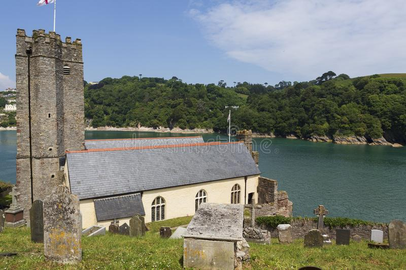 St Petrox church, Dartmouth, Devon, UK. St Petrox Church in Dartmouth at the mouth of the river is the oldest of the three parish churches, the earliest royalty free stock image