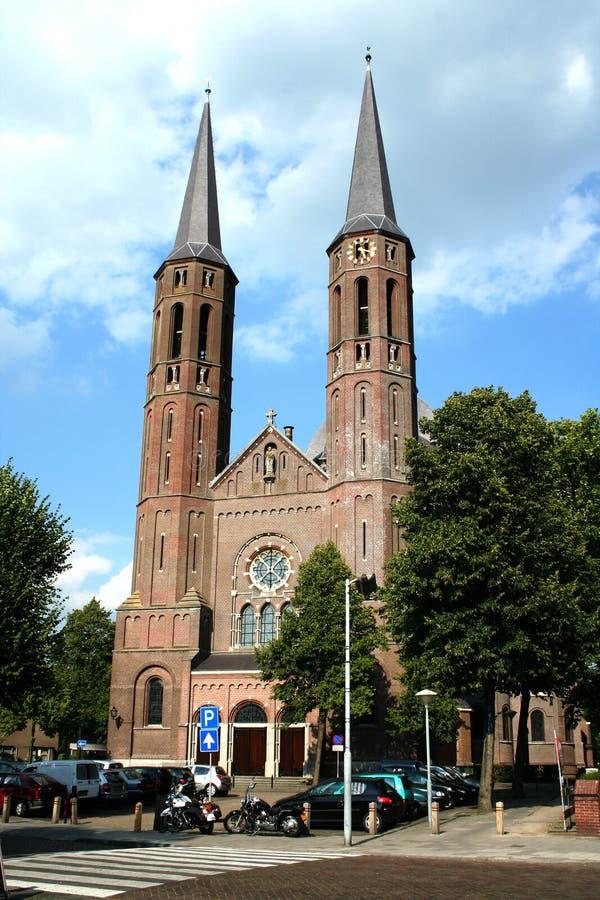 St Petrus Church i mitten av Uden royaltyfri foto