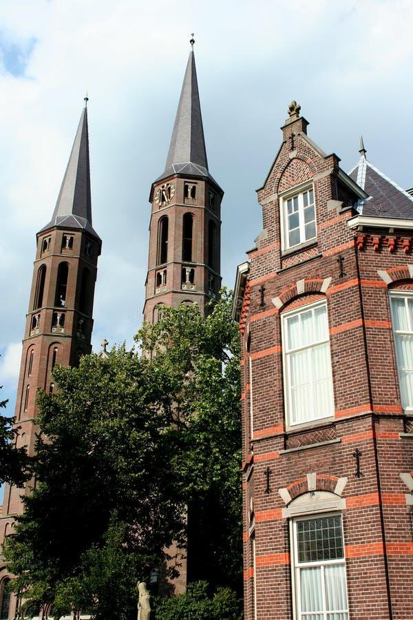 St Petrus Church i mitten av Uden arkivfoton