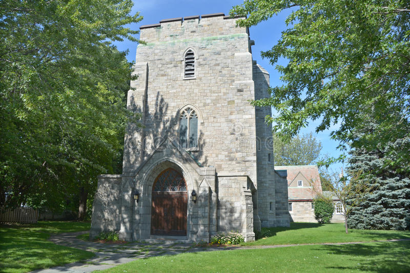 St. Philip Anglican Church. MONTREAL CANADA AUGUST 22 2015: St. Philip Anglican Church is a Christian congregation serving the Montreal West community and stock photos