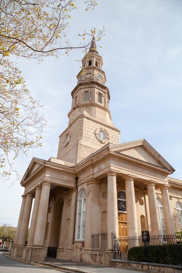St Philip Episkopale Kirche, Charleston, Sc stockbilder