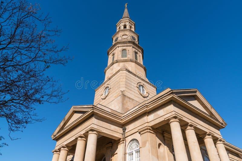 St Phillip kościół w Charleston, SC zdjęcia stock