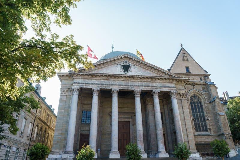 St Pierre Cathedral em Genebra, Suíça fotos de stock