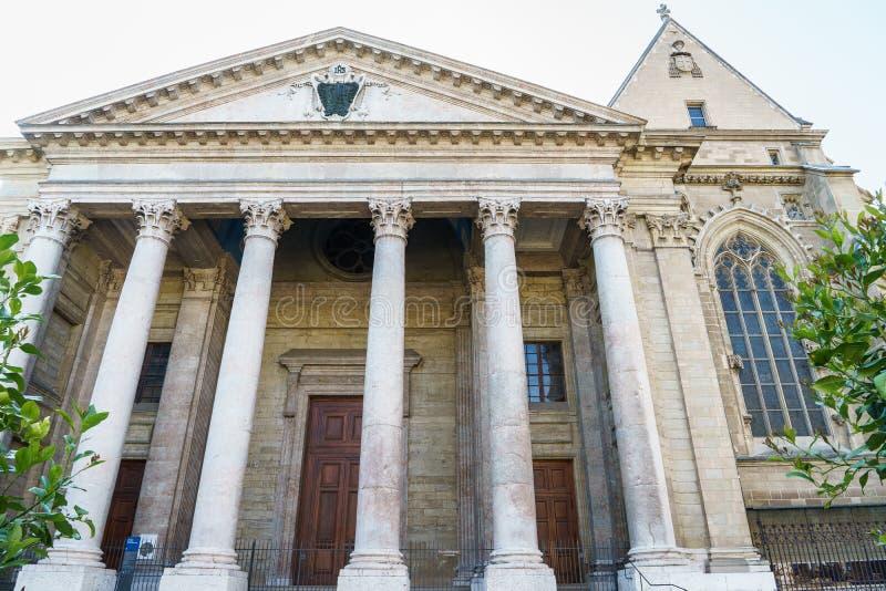 St Pierre Cathedral em Genebra, Suíça fotografia de stock