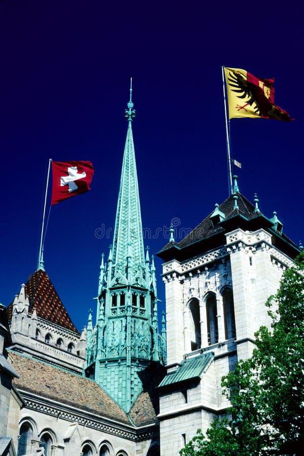 St. Pierre Cathedral, Genève stock fotografie