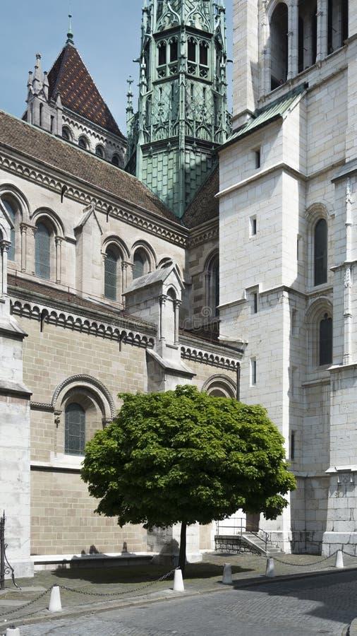 St Pierre Chatedral, Ginebra imágenes de archivo libres de regalías