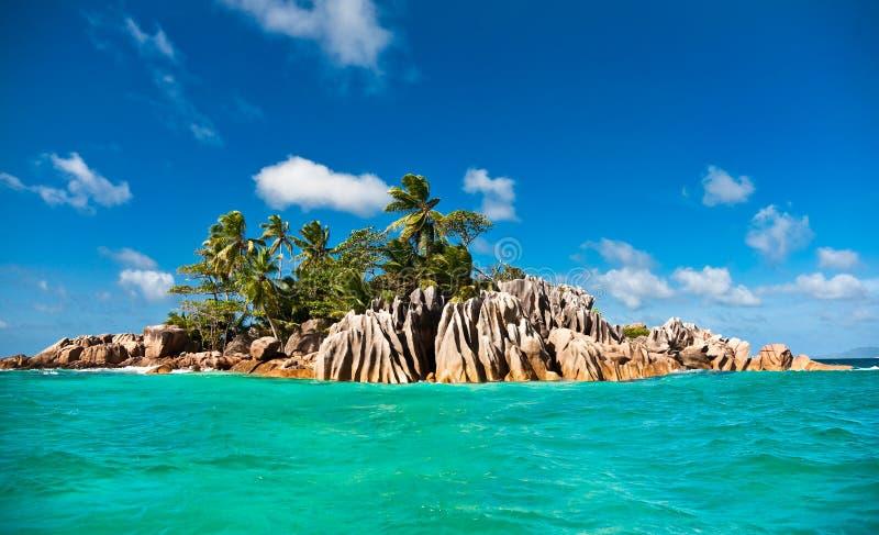St. Pierre eiland, Seychellen stock foto's