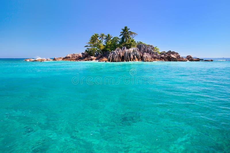 St Pierre eiland in Seychellen stock afbeeldingen