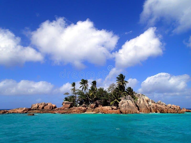 St Pierre - ensam ö i Seychellerna royaltyfri foto
