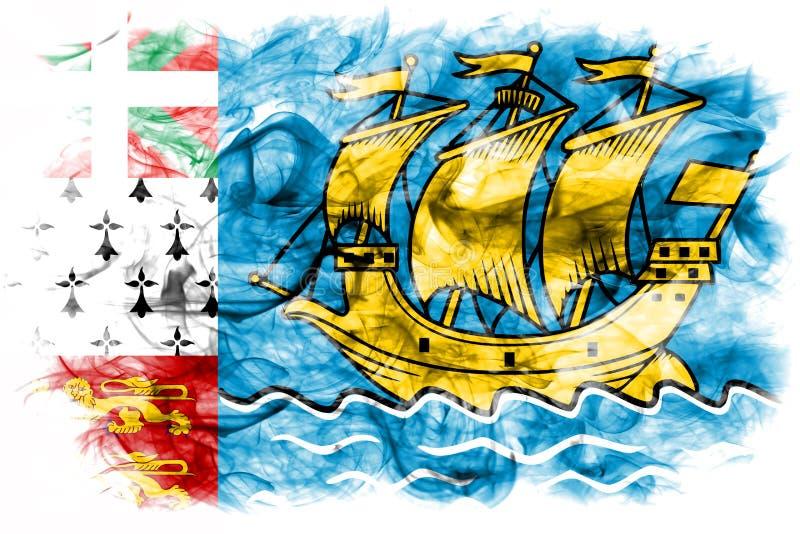 St Pierre-miquelon rökflagga, Frankrike anhörigterritor vektor illustrationer