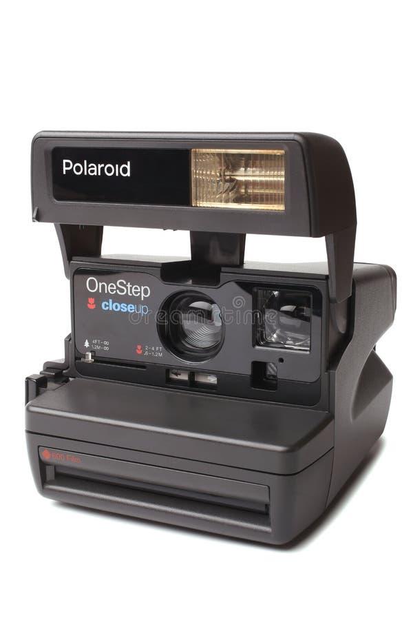 St PIETROBURGO, RUSSIA - Septembe 01, 2015: Film vicino 600 di punto della polaroid una su fotografie stock libere da diritti
