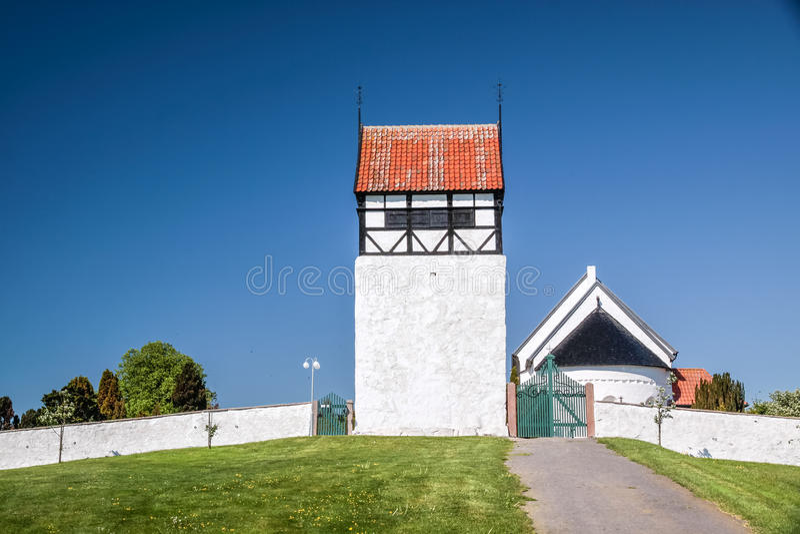 St. Povel Kirke on Bornholm stock photos