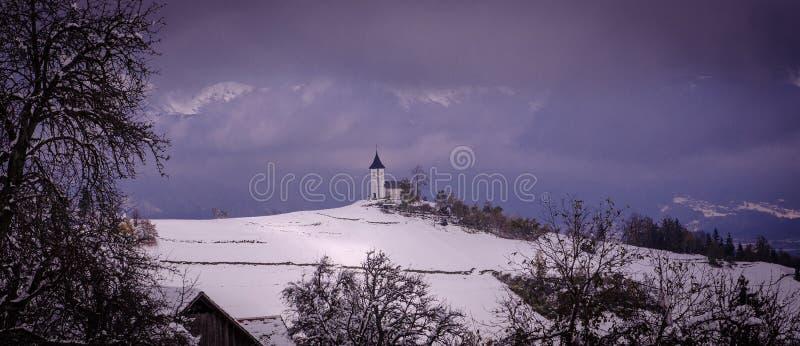 St. Primoz church near Jamnik royalty free stock photos
