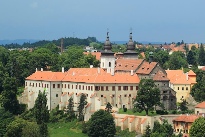 St Procopius Basilica en Trebic imagenes de archivo