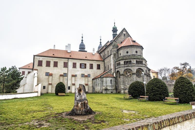 St Procopius Basilica, Trebic, Tsjechische Republiek royalty-vrije stock afbeeldingen