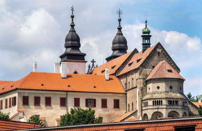 St Procopius Basilica in Trebic, Tsjechische Republiek stock foto