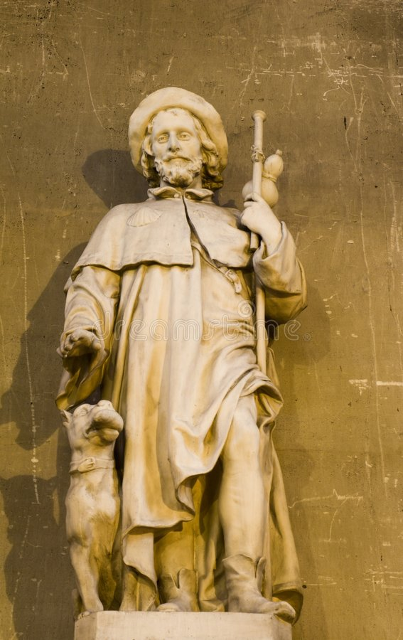 St. roch from Paris church. St. Augustin royalty free stock image