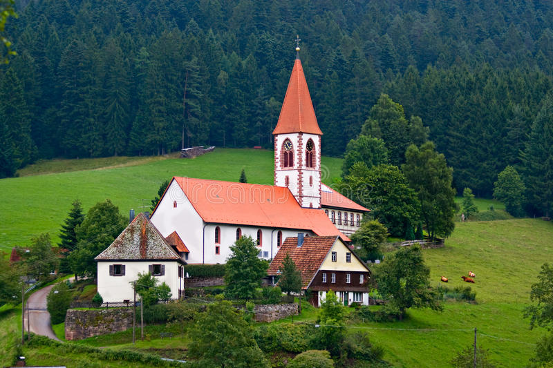 St Roman church in Wolfach, Germany stock images