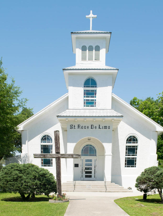 St Rose De Lima Catholic Church en la bahía St. Louis, Mississippi, los E.E.U.U. fotografía de archivo