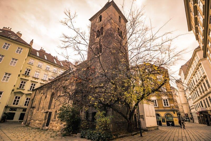 St Rupert ` s kościół w Wiedeń, Austria zdjęcie royalty free
