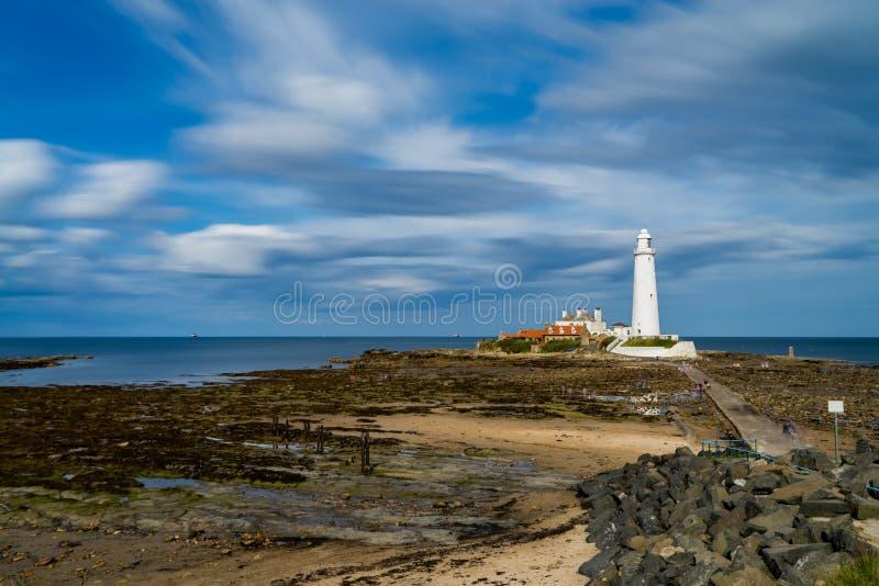 St ` s Maryjna latarnia morska, północno-wschodni Anglia obrazy stock