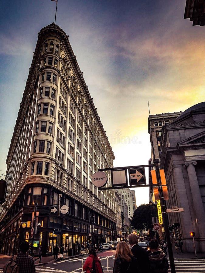 St San Francisco Evening del mercato fotografie stock libere da diritti