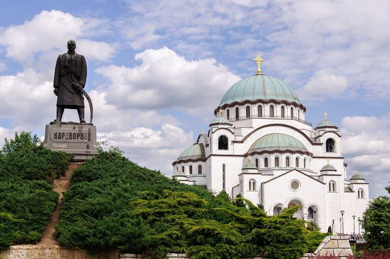 St Sava寺庙在贝尔格莱德 免版税图库摄影