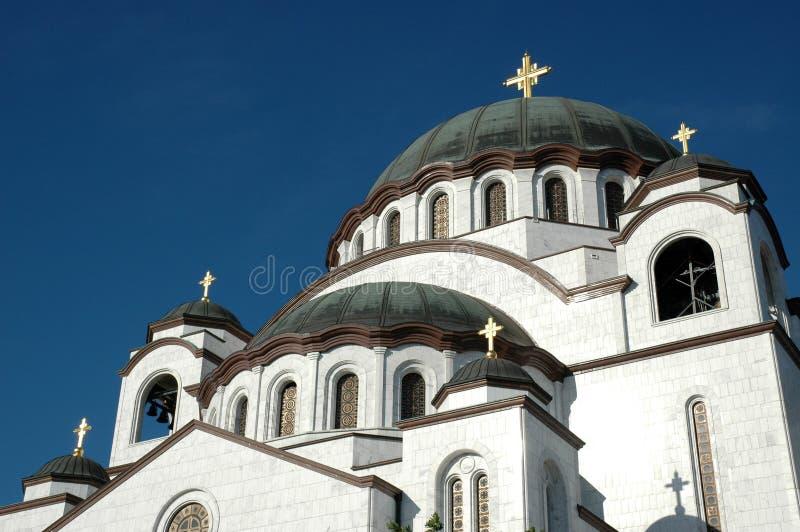 St. Sava Tempel stock foto