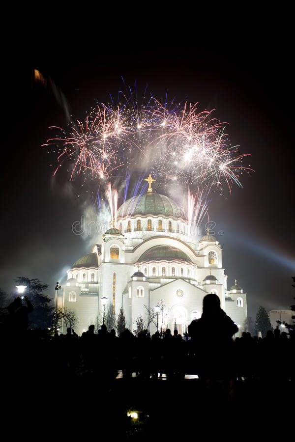 St. Sava Tempel in Belgrado, Servië stock fotografie