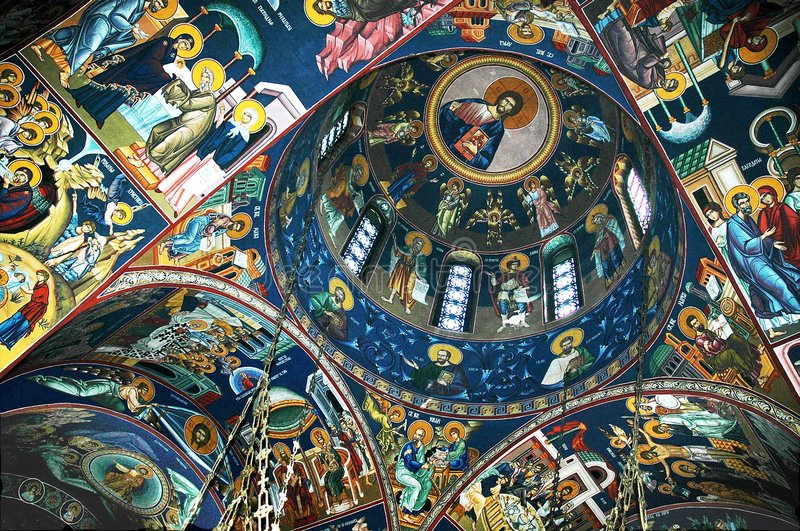 Download St Sava Temple stock image. Image of ceilings, painting - 496037
