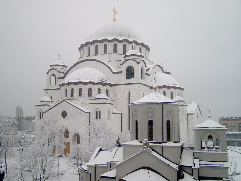 St. Sava Temple royalty free stock images