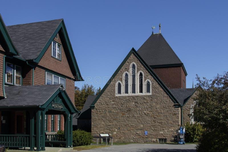 St Saviour& x27; s主教制度的教会在巴港,美国, 2015年 免版税库存图片