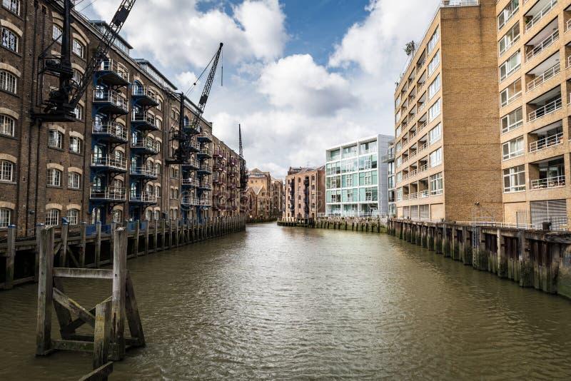 St Saviours Dock in London royalty free stock image