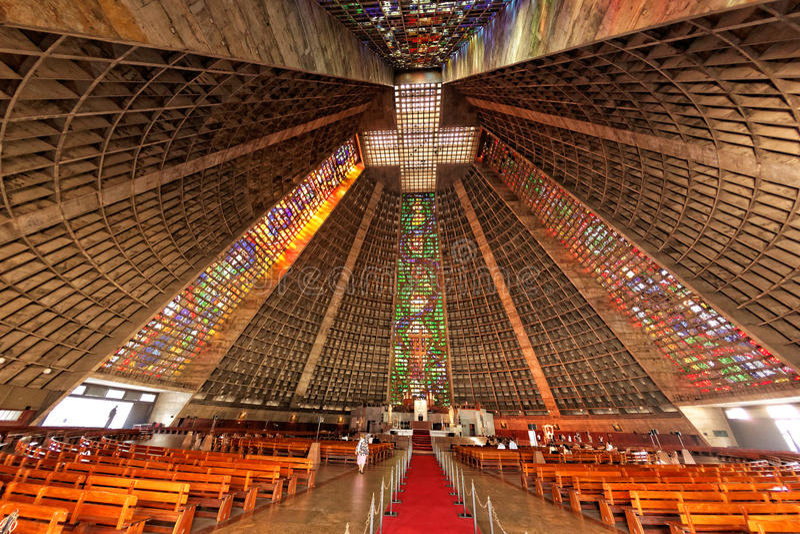 St Sebastian Rio de Janeiro Brasile della cattedrale immagini stock libere da diritti