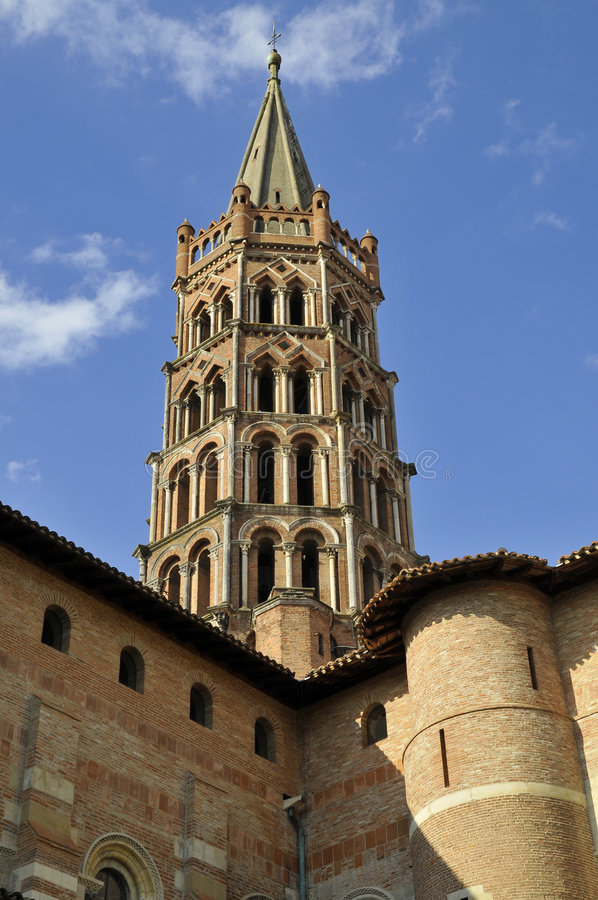 st sernin церков стоковые изображения rf