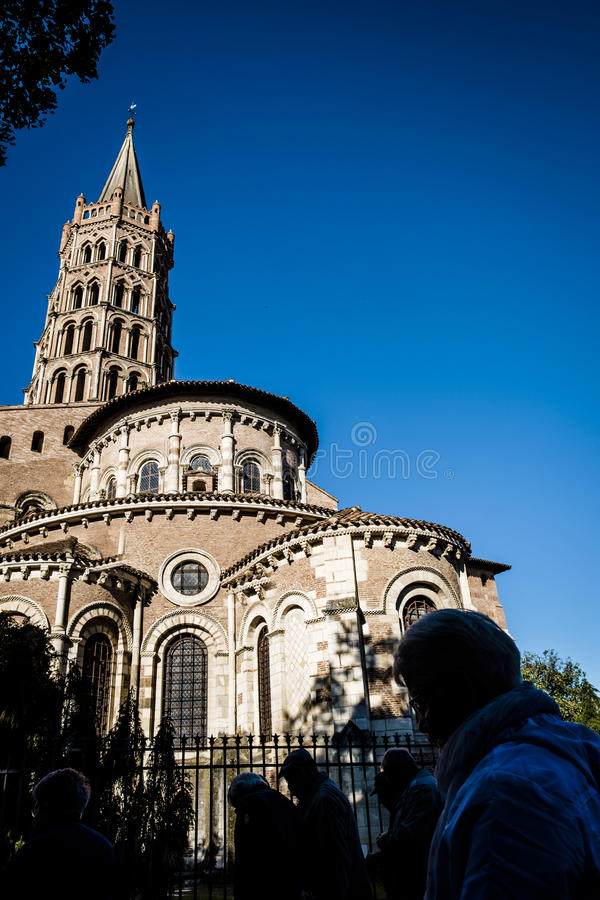 St Sernin Basilica foto de stock