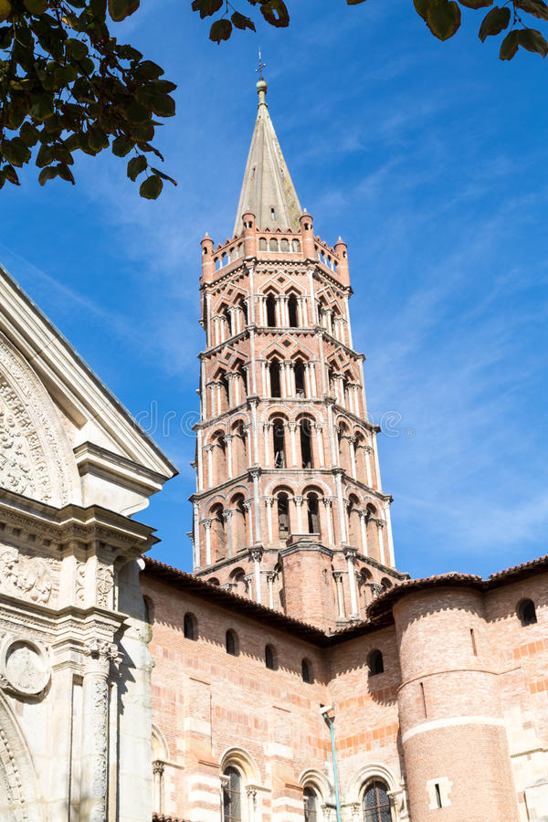 St. Sernin Church stockbilder