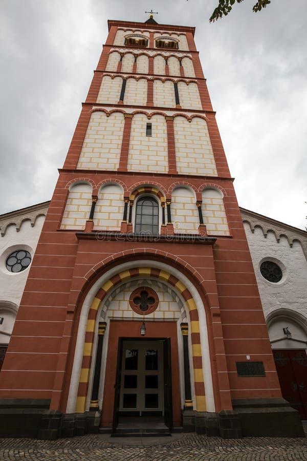 St Servatius kerk siegburg Duitsland stock foto's